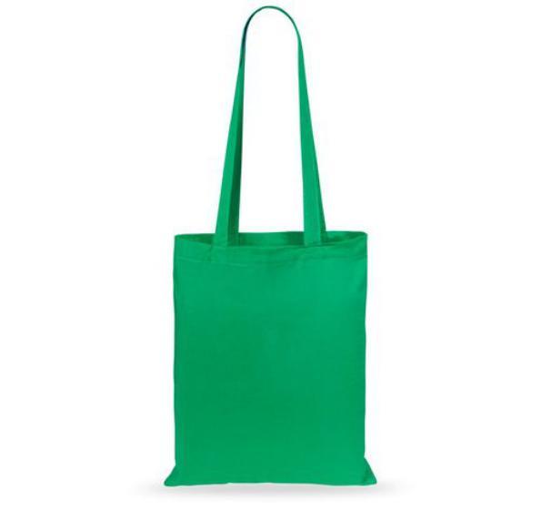 Еко-сумка з бавовни  зелена (35х40см) 240г/кв.м.
