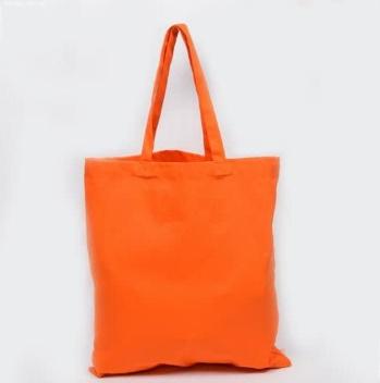 Еко-сумка з бавовни  помаранч (35х40см) 240г/кв.м.
