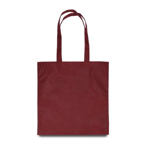 Еко-сумка з бавовни  бордова (35х40см) 240г/кв.м.