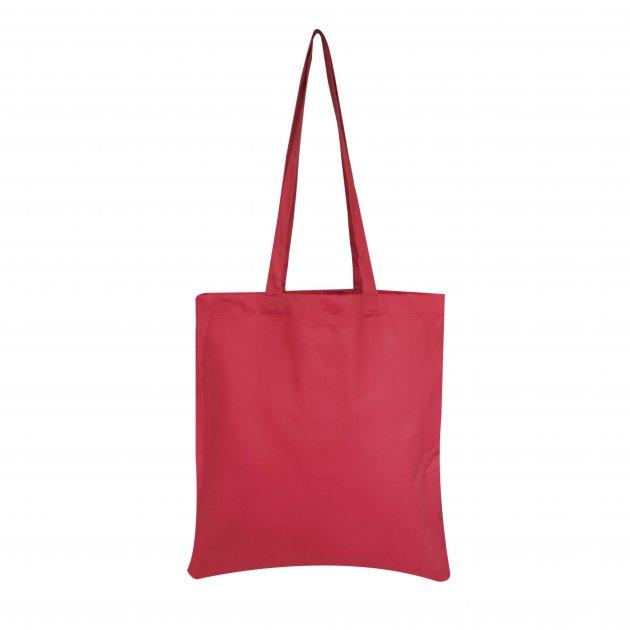 Еко-сумка з бавовни  червона (35х40см) 240г/кв.м.
