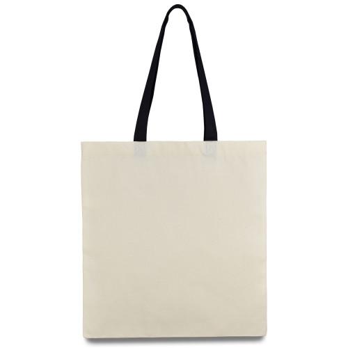 Еко-сумка з бавовни чорною ручкою (35х40см) 240г/кв.м.