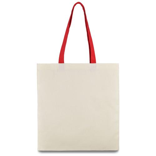 Еко-сумка з бавовни червоною ручкою (35х40см) 240г/к