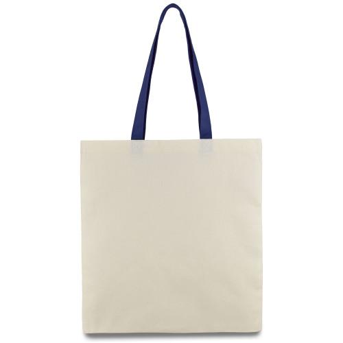 Еко-сумка з бавовни синьою ручкою (35х40см) 240г/к