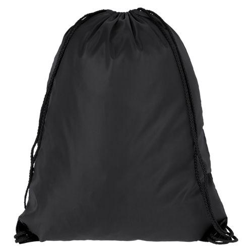 Еко-рюкзак чорний з наметової тканини (35х45 см) PROMO